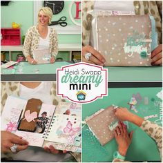 Create to Remember with Heidi Swapp :  Dreamy Mini   Heidi shares a step by step process for creating a beautiful mini-book project usi...