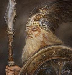 Wotan of Richard Wagners work by andrekosslick on DeviantArt German Mythology, Norse Mythology, Statues, Rune Viking, Les Runes, Symbole Viking, Richard Wagner, Wild Hunt, Deities