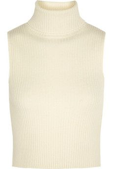 Topshop Unique Natalie ribbed wool and cashmere-blend top | NET-A-PORTER