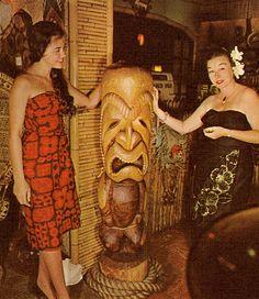 Nice Authentic Vintage Tiki Photo!! Tiki Bar, Tiki Lounge, Tiki Decor, Rare Tiki, Vintage Tiki!