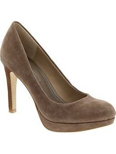 my favorite shoe of all time, the kate pump -- portobello suede. no wonder it also happens to have my favorite name of all time as well.