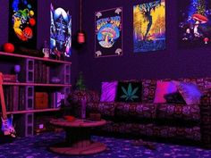 This would have been a really nice living room in the late 60's early 70's with a good array of black-light posters and the 'spool' coffee-table - we all had the cinder-block book-shelves at some point