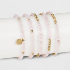 Labradorite Bracelet – Universal Thread Pink/Gold, Women's – Diy Bracelets İdeas. Diy Beaded Bracelets, Diy Bracelets Easy, Handmade Beaded Jewelry, Handmade Bracelets, Bracelet Set, Bracelet Making, Jewelry Making, Cute Friendship Bracelets, Affordable Jewelry