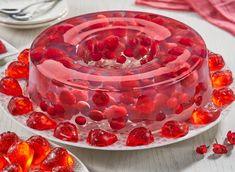 Gelatina Jello, Fish, Meat, Baby Shower, Recipes, Cake Recipes, Sweets, Baking, Cook