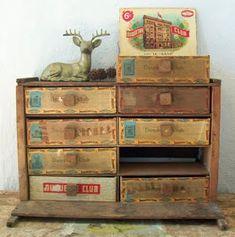 Just Something I Made: Craft Organizing: Cigar Boxes