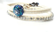 Bridal Jewelry Friendship Bracelet The ultimate Peacock by Daniblu, $20.00