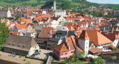 One of my 'most beautiful places' to visit: Cesky Krumlov, UNESCO World Heritage Site, located in the Southern part of the Czech Republic. The castle and the city's construction were begun in the Cool Places To Visit, Places To Travel, Travel Destinations, Day Trips From Prague, Europe Centrale, Excursion, Secret Places, Future Travel, Worlds Of Fun
