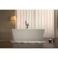 Azzuri Adele BT040D-2 59 in. Freestanding Soaking Bathtub - BT040D-2