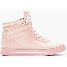 MARC BY MARC JACOBS Blush Pink Leather Cute Kicks High-Top Sneakers found on Polyvore