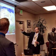 MIIS students Lucas Brader, Peter Soroka, and Marques Watson demonstrate the Monterey Threat Analysis Platform (MTAP) at the Monterey Terrorism Research and Education Program Conference on #Terrorism & #Counterterrorism in #Africa.