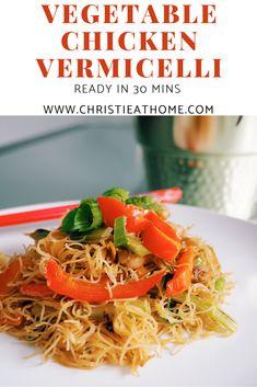 Easy Casserole Recipes, Easy Soup Recipes, Pork Recipes, Lunch Recipes, Asian Recipes, Vegetarian Recipes, Ethnic Recipes, Savoury Recipes, Chicken Vermicelli