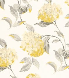This paper is suitable for all interiors, including well ventilated kitchens and bathrooms. All Laura Ashley wallpapers are printed in the UK. Bathroom Wallpaper, Love Wallpaper, Designer Wallpaper, Laura Ashley, Hydrangea Wallpaper, Kitchen Feature Wall, Yellow Cottage, All The Small Things, Primroses