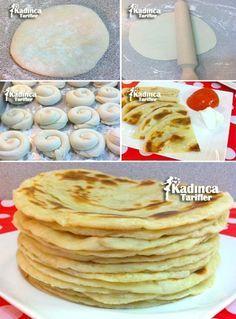 Mayasız Katmer Tarifi Breakfast Items, Breakfast Recipes, Dessert Salads, Bread And Pastries, Turkish Recipes, Food Diary, Desert Recipes, Creative Food, Pain