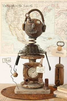 Popping-Eye Pete – A Found Object Sculpture | Vintage with Laces | Bloglovin'