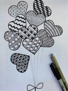 Cute Doodle Art, Doodle Art Designs, Doodle Art Drawing, Zentangle Drawings, Art Drawings For Kids, Art Drawings Sketches Simple, Pencil Art Drawings, Mandala Art Therapy, Mandala Art Lesson