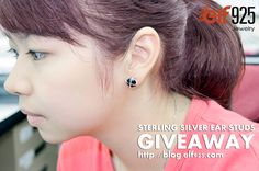 Sterling silver ear studs with cubic zirconia stones giveaway. Easy rules, great value! http://www.elf925.com/Silver-Ear-Studs