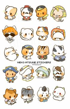 I've played Neko Atsume before. It's cute! Tap the link Now - The Best Cat Products We Found Worldwide! Chibi Neko, Kawaii Chibi, Cute Chibi, Neko Neko, Cute Animal Drawings, Kawaii Drawings, Cute Drawings, Kawaii Doodles, Cute Doodles