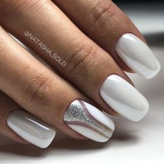 50 Top Best Wedding Nail Art Designs to Get Inspired Gel Nail Art, Gel Nails, Nail Polish, New Nail Art Design, Nail Art Designs, Trendy Nails, Cute Nails, American Nails, Soft Nails