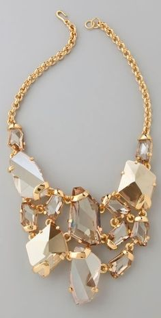 gold statement necklace.