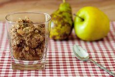 Crumble de manzana y pera