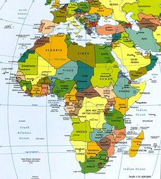 Printable Map of Africa | Africa, Printable Map with Country