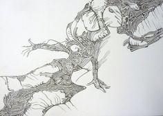 "Saatchi Online Artist Elena Mauri; Drawing, ""virtual couple"" #art"