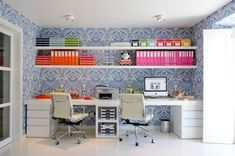organized and stylish home offices