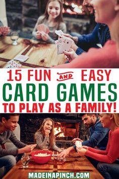 Want an alternative to screen time? Maybe you have played one too many board games and are looking for different game night options. If you want to energize an evening with your family, bust out a card game to get everyone laughing, talking, and off their phones. Oh yeah Fun Card Games, Card Games For Kids, Playing Card Games, Fun Games, Family Games, Family Activities, Kids And Parenting, Parenting Hacks, Rainy Day Games