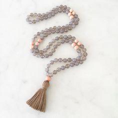Grounding Mala mala beads mala necklace by Thebeautifulnomad
