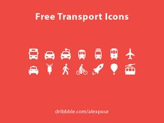 Free Transport Icons AI