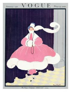 §§§ : Vogue Cover : January 1916  by Irma Campbell