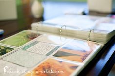 photo albums - keep and protect your photos long term by printing them out... I especially like the photo sleeves for 4x6 images, and the idea to put in random papers like receipts and ticket stubs, as well as write in funny anecdotes and things people said around that time