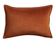 """Brenner Rust 18""""x12 """" Velvet Pillow - See more at: https://www.decorist.com/finds/100026/brenner-rust-18x12-velvet-pillow/"""