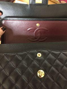 678f4a36b8 Bolsas de Couro · AUTHENTIC Chanel Med 10
