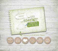 Gästebuch+Hochzeit+A5+grün+von+nordencreativ-design+auf+DaWanda.com
