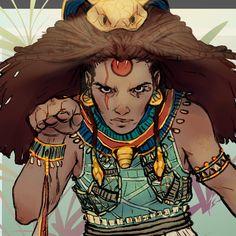 CDC_Egyptian Goddess-Wadjet, Isaac Espitia on ArtStation at https://www.artstation.com/artwork/lbNJV