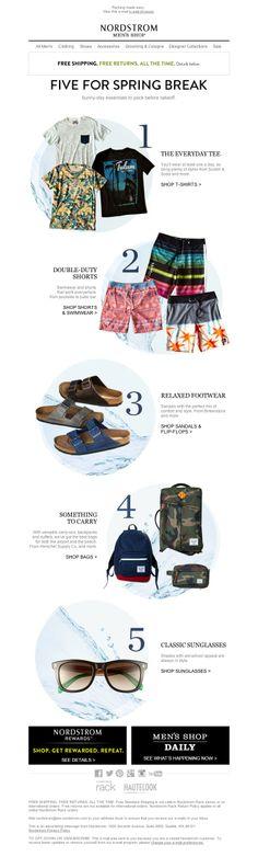 Nordstrom - Top Five Spring Break Essentials