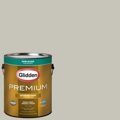 Glidden Premium 1-gal. #HDGCN01U Eastern Lighthouse Semi-Gloss Latex Exterior Paint