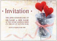 AI_009 Anniversary Invitations, 20th Anniversary, Rsvp, Invite, Monkey, Playsuit, Birthday Invitations, 20th Birthday, Monkeys