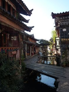 A commercial street in ancient city Lijiang, Yunnan Province