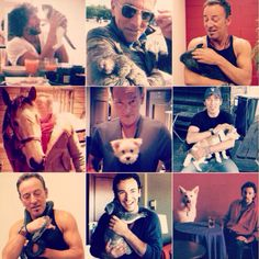 Bruce Springsteen with animals over the years!