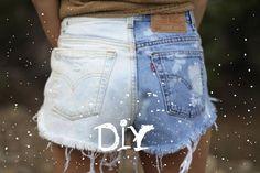 DIY: Jolies shorts ombrées   Bulles + Bottillons