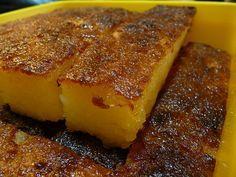 Bingka Ubi (Baked Cassava/Tapioca Cake) ... recipe uses grated coconut
