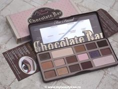 Review: Too Faced Chocolate Bar eye shadow palette http://www.mybeautykiss.ro/TooFaced_ChocolateBarPalette.php