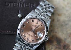 #Rolex #Datejust #16234 #1995 #pinkdial #steel #whitegold #watchoftheday #steinermaastricht