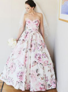Big floral prints will be walking down the aisle this summer - can't wait to see them