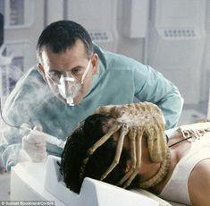 Photo: Alien, 1979 directed by Ridley Scott with Ian Holm / John Hurt (photo) : Alien 1979, Science Fiction, Fantasy Movies, Sci Fi Fantasy, Alien Resurrection, Alien Covenant, Alien Art, Alien Alien, Giger Alien