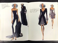 Sketches from my sketchbook while I was designing for ANNE KLEIN 1994  Renaldo Barnette