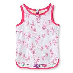Toddler Girls' Floral Sleeveless Tank Top White - Genuine Kids from Oshkosh™