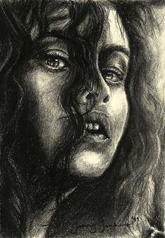 I Killed Sirius Black by thewholehorizon.deviantart.com on @deviantART. Bellatrix in all her ruined beauty